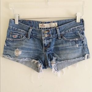 Hollister Distressed Denim Jean Shorts 0